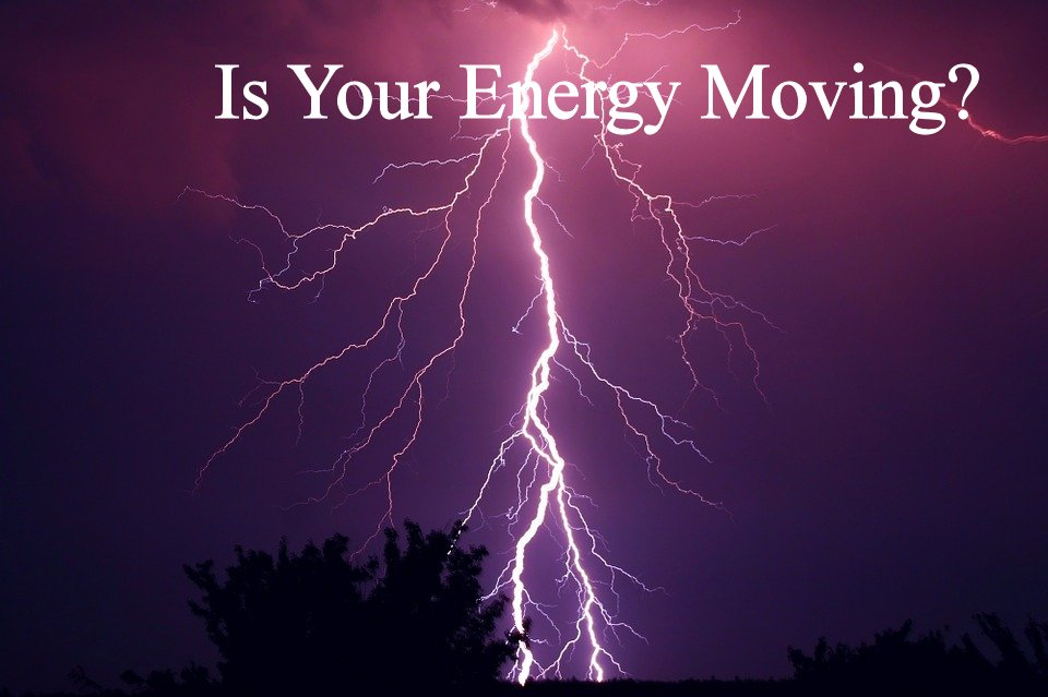 Is Your Energy Moving with lightening behind